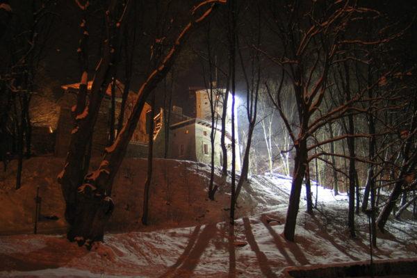 zamek-korzkiew-park-zima