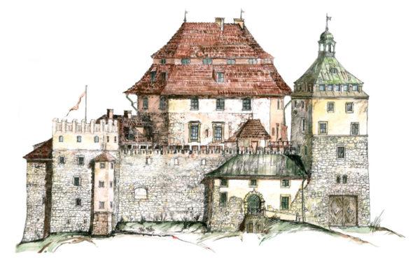 zamek-korzkiew-rysunek